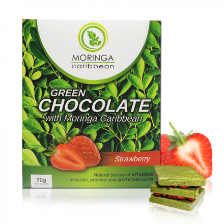 Chocolate com morangos 70g